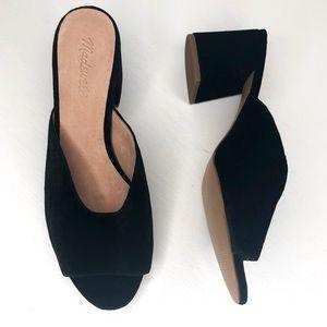 Madewell Beatriz velvet slide mules size 11